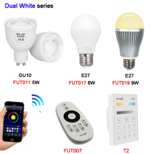 MiBOXER 5w 6W 9W GU10 E27 Color Temperature LED lamp Dual White Spot light AC100~240V FUT011/FUT017/FUT019/FUT007/T2 2.4G Remote