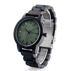 BOBO ptak luksusowe markowe zegarki męskie ręcznie robione naturalne drewniany zegarek drewniane Band prezenty relógio masculino B M04 w Zegarki kwarcowe od Zegarki na