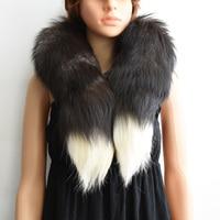 2017新しいファッション冬の毛皮暖かいキツネの尾100%リアルフォックス毛皮スカーフ男