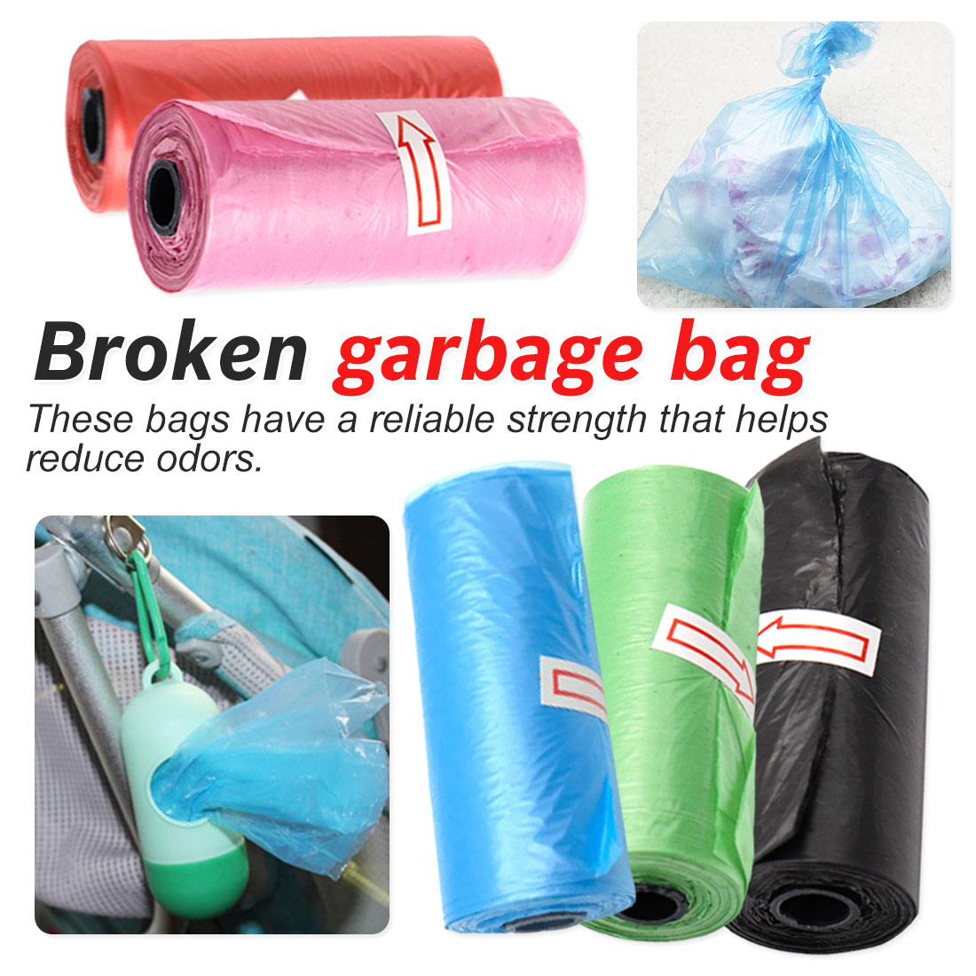Baby Diaper Bag Waste Garbage Bags Pet Dog Infant Baby Poop Bag Practical Poop Bags Holder Pets Trash Cleaning Supplies