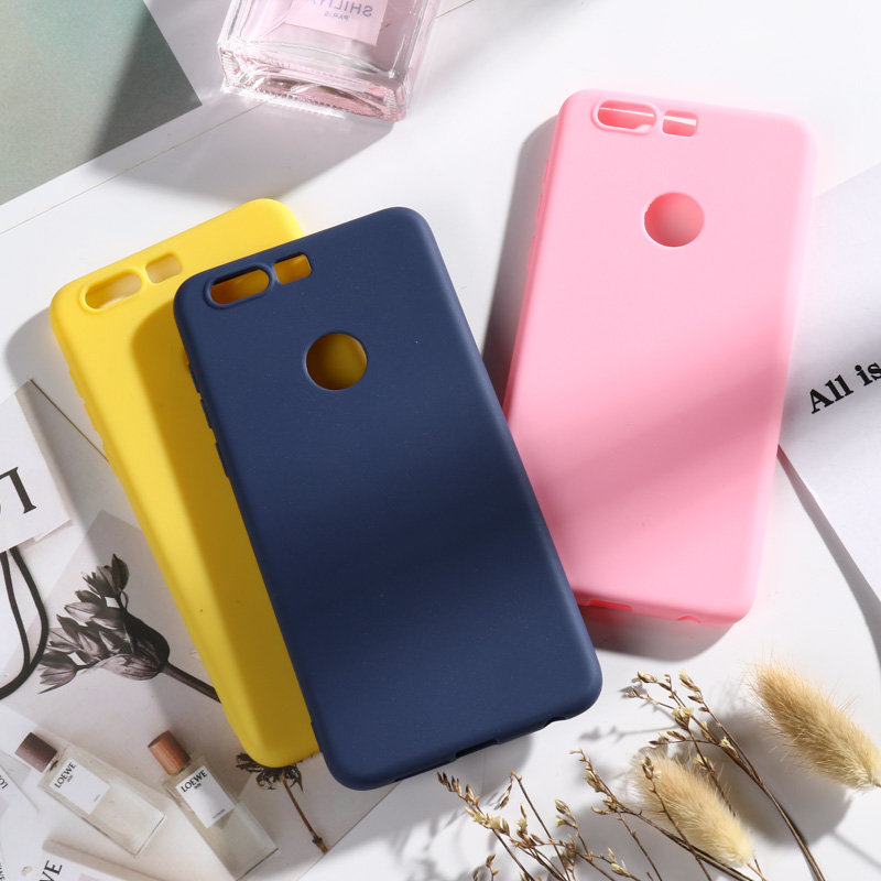 Huawei Honor 8 Case Cover On for Soft Silicone Candy Color Back For Honor8 5.2 TPU Cases