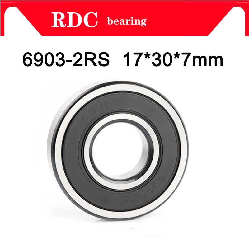 High Quality 10PCS ABEC-5 6903 2RS 6903RS 6903-2RS 6903 RS 17x30x7 Mm 17*30*7mm Double Rubber Seal Deep Groove Ball Bearing