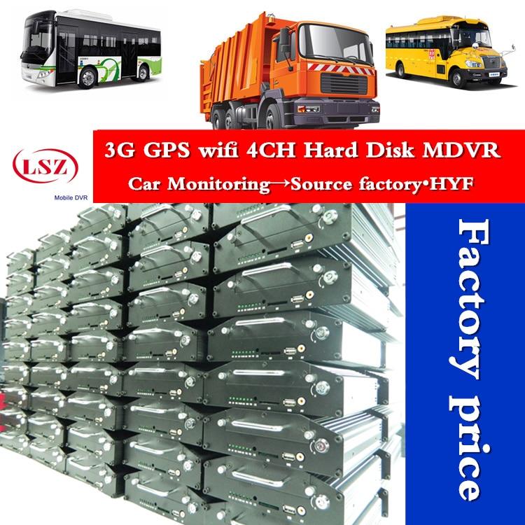 LSZ utilisation gratuite du serveur 4CH AHD 720 P MDVR With3G GPS & WIFI Max 2 to hdd/ssd + 128G carte SD prise en charge moniteur à distance pour tous