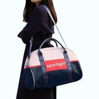 2018 Women Outdoor Sport Bag Gym Bag Oxford Waterproof Foldable Travel Shoulder Bag Large Tourist Pink Yoga Handbag Bag