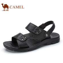 Camel Men's Shoes 2017 Summer New Casual Leather Sandals Open Toe Beach Sandals Male A722287952