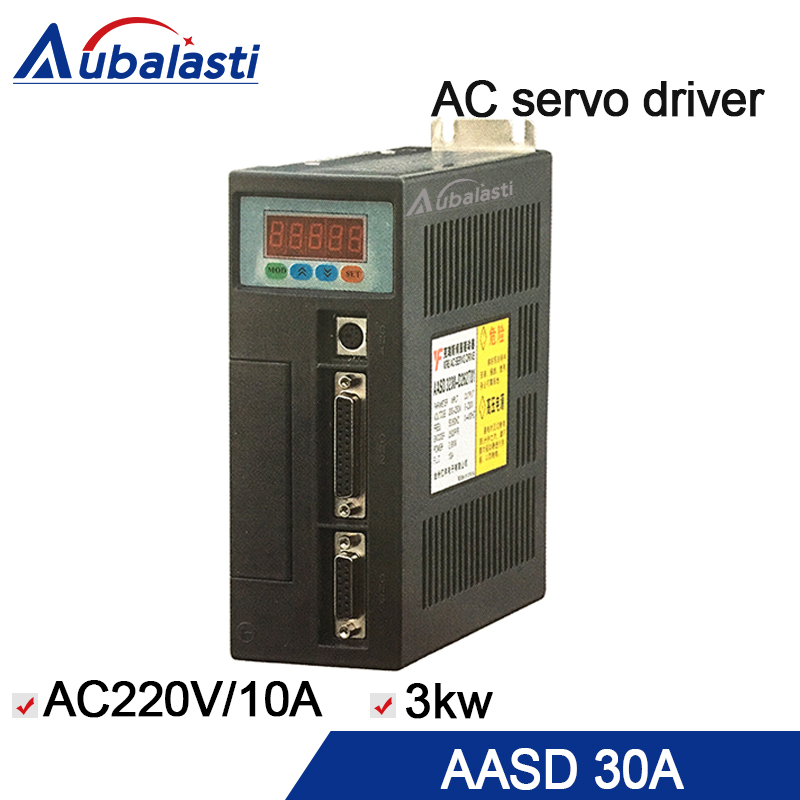 ac servo motor driver AASD-30A 3KW input voltage ac220v current 10A servo driver use for cnc engraver and cutting machine dhl ems sam sung csmt 02bb1abt3 ac servo motor good in condition for industry use a1