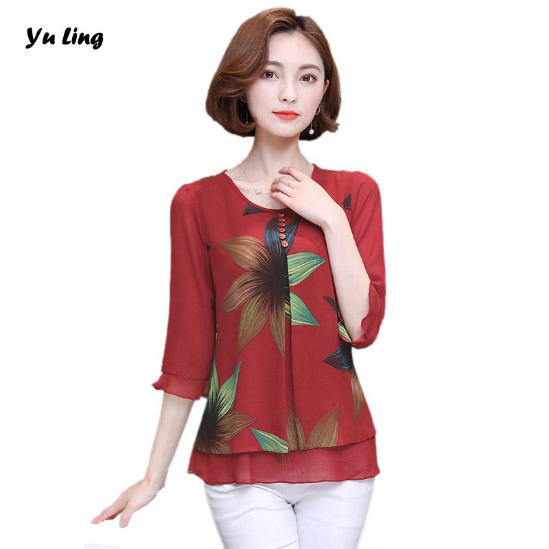 vero nova moda das mulheres com decote em v chiffon impresso camisa das mulheres modernas lazer tendncia blusa xl xxl xl xl