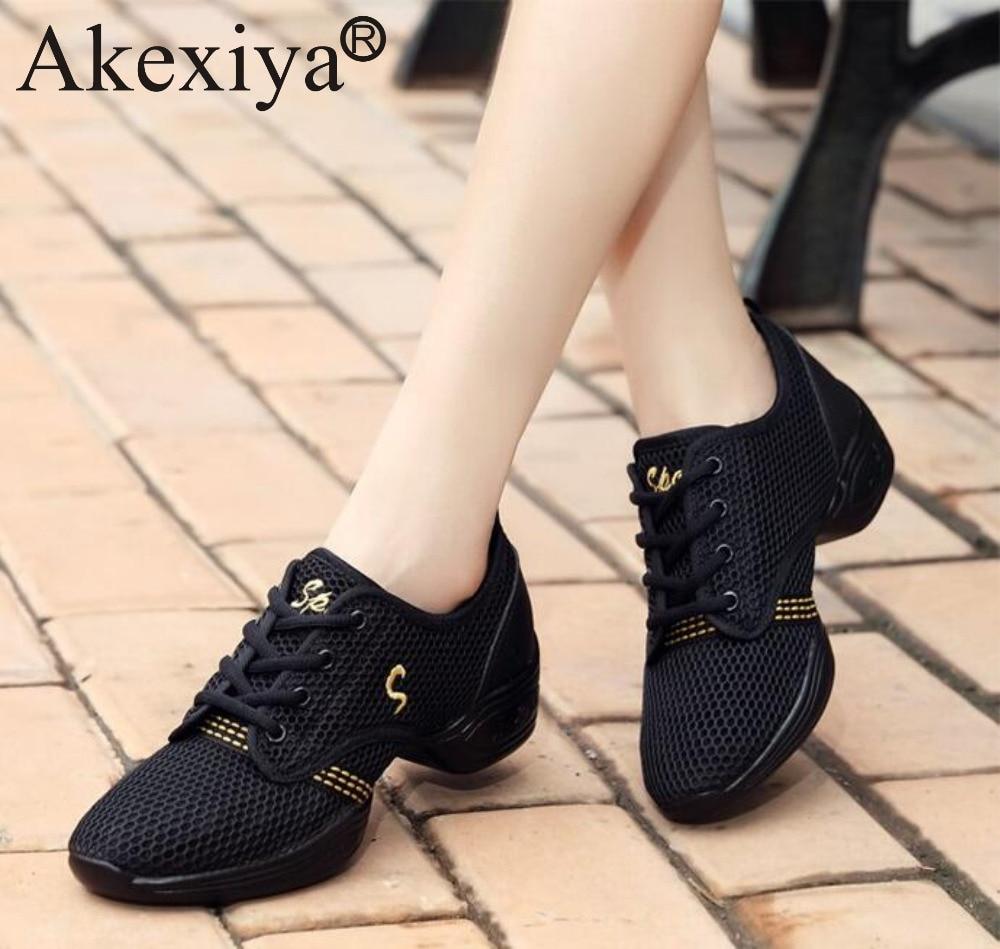 Akexiya Women Sneakers Ladies Breath Fitness Dance Shoes Men's Dance Sneakers Ballet Jazz Dancing Shoes For Children Boys Girls