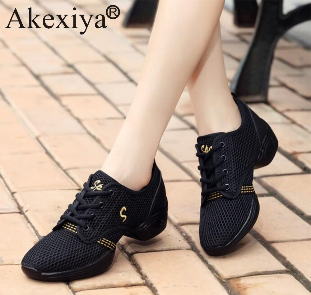 Akexiya Women Sneakers Ladies Breath font b Fitness b font Dance Shoes Men s Dance Sneakers