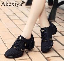 Akexiya Women Sneakers Ladies Breath font b Fitness b font Dance Shoes Men s Dance Sneakers