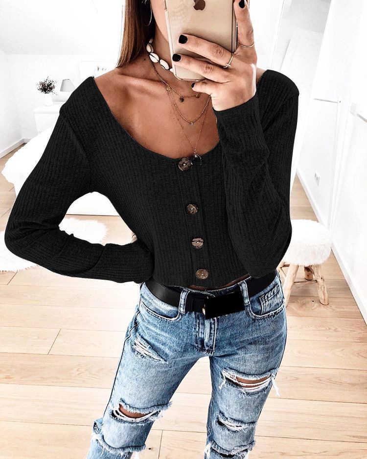 AvoDovA/женские весенние блузки, повседневные женские рубашки с длинными рукавами и пуговицами, серые, черные топы для девочек, кардиган