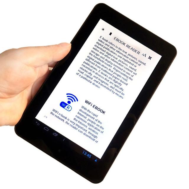 Pantalla LCD de 7 pulgadas lector de libros electrónicos inteligente HD pantalla segura wifi reproductores digitales con multiidioma global apoyo sd micro