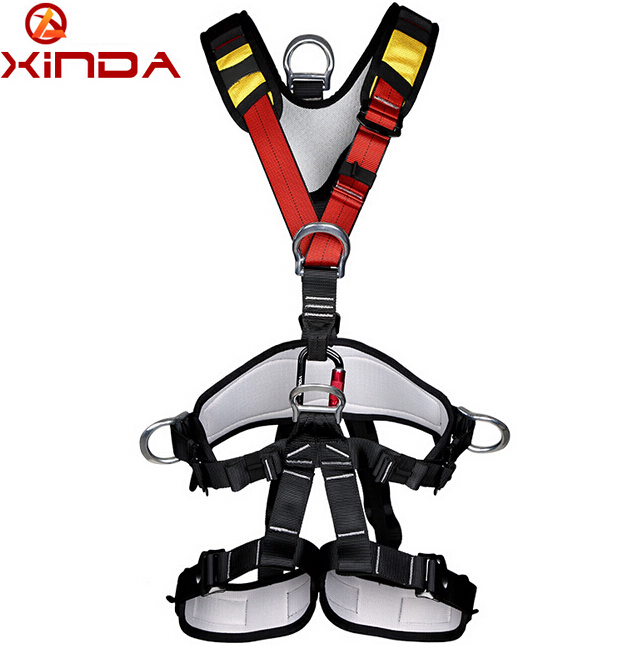 XINDA professional Rock Climbing High altitude Full Body Safety Belt Harnesses Anti Fall Protective Gear xinda professional handle pulley roller gear outdoor rock climbing tyrolean traverse crossing weight carriage device