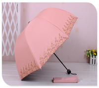 Ponto de moda por atacado criativo Apollo dobrado guarda-chuva guarda-sóis guarda-chuva guarda-chuva de Vinil anti Sai bordado Coréia