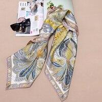 High Style 100% Silk Twill Scarf Shawl Women Square Silk Scarf Foulard Head Scarves Hijab 35 X 35