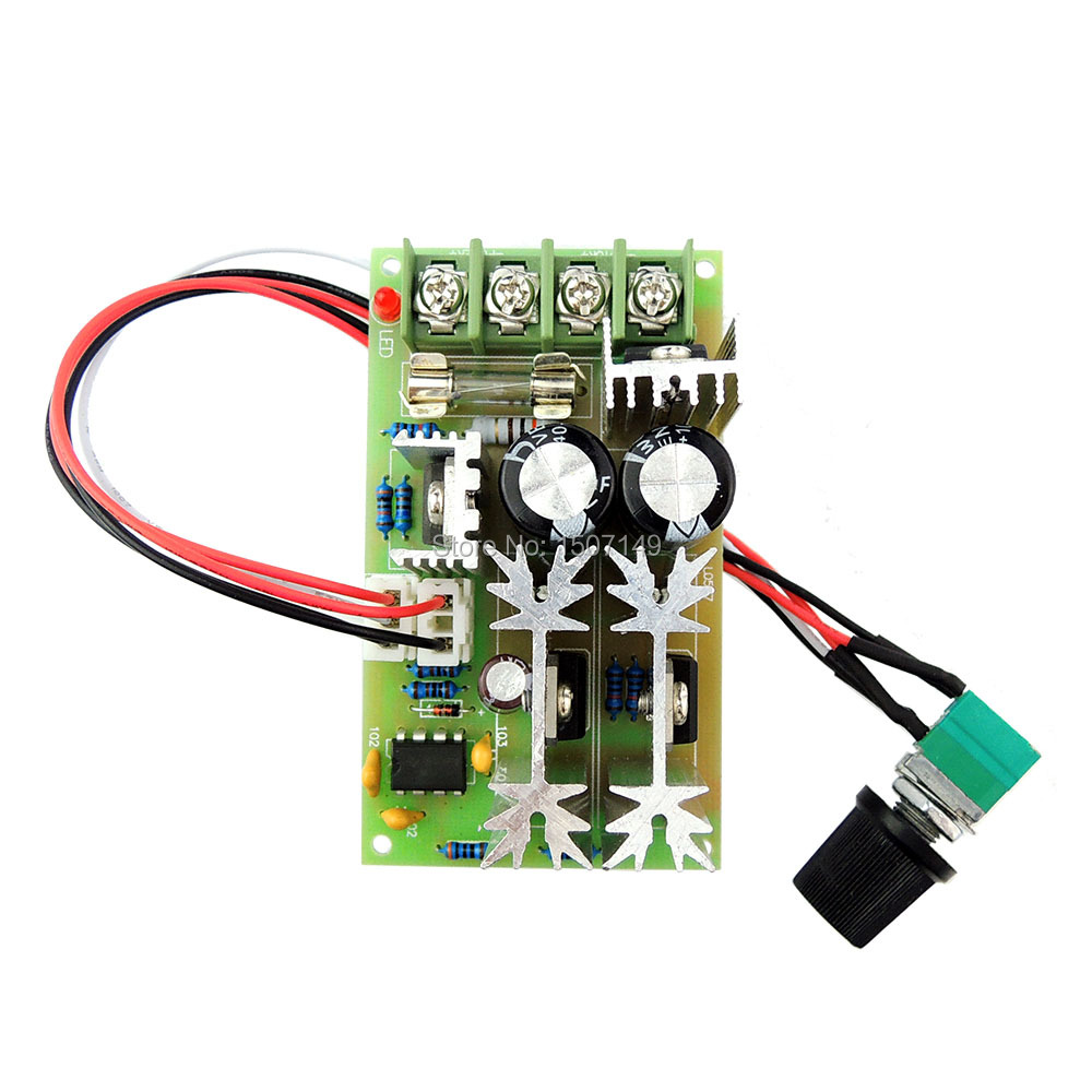 pwm dc motor speed controller 12v 24v 36v 48vdc 20a 500w adjustable speed regulator with potentiometer switch brand new l0577k in motor controller from home  [ 1000 x 1000 Pixel ]