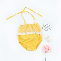 2018 New Arrivals New Born Baby Girls Lace Romper Girls Off Shoulder Clothes Sexy baby Romper New Bebe Fashion Clothing