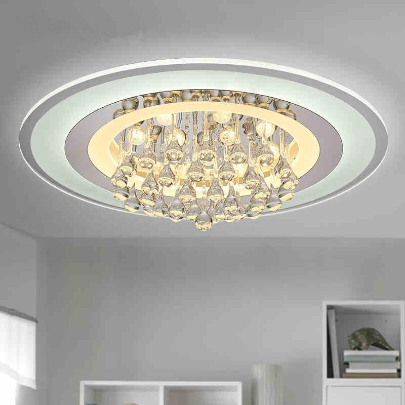 все цены на Modern Led Ceiling Lights For Indoor Lighting crystal led round Fixture For Bedroom luminaria teto led ceiling lamp ZXD0039