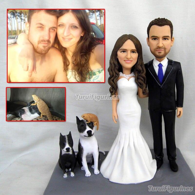 Полимерная глина кукла фигура статуя подарок невесты и жениха персонализированные цилиндр свадебный торт ручной работы Жених и невеста то