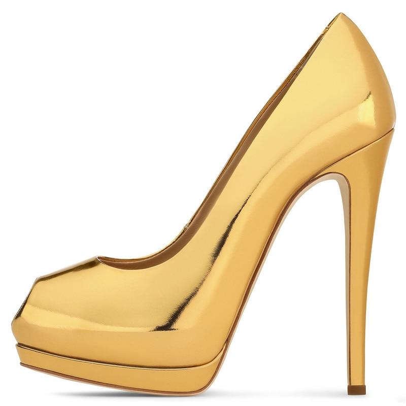 Color 1 color Mode color Femmes Luxe Mujer forme Mariage Dame Plate 3 color Toe 4 Super Concepteur Bling Chaussures color De Pompe Hauts 2 Talons Zapatos 44 Peep Pu 5 Pompes Partie BgqB0wA