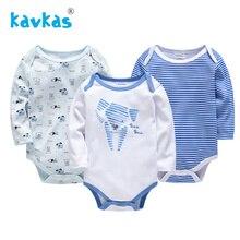 Kavkas/Детские комбинезоны для девочек; комбинезон для новорожденных; Комплект для мальчиков; зимняя одежда с длинными рукавами; г.; Детский комбинезон унисекс с героями мультфильмов