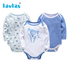 Kavkas Baby Rompers Girl Newborn Jumpsuit Boy Set Winter Long Sleeve 2019 Cartoon Baby Unisex Jumpsuit(China)