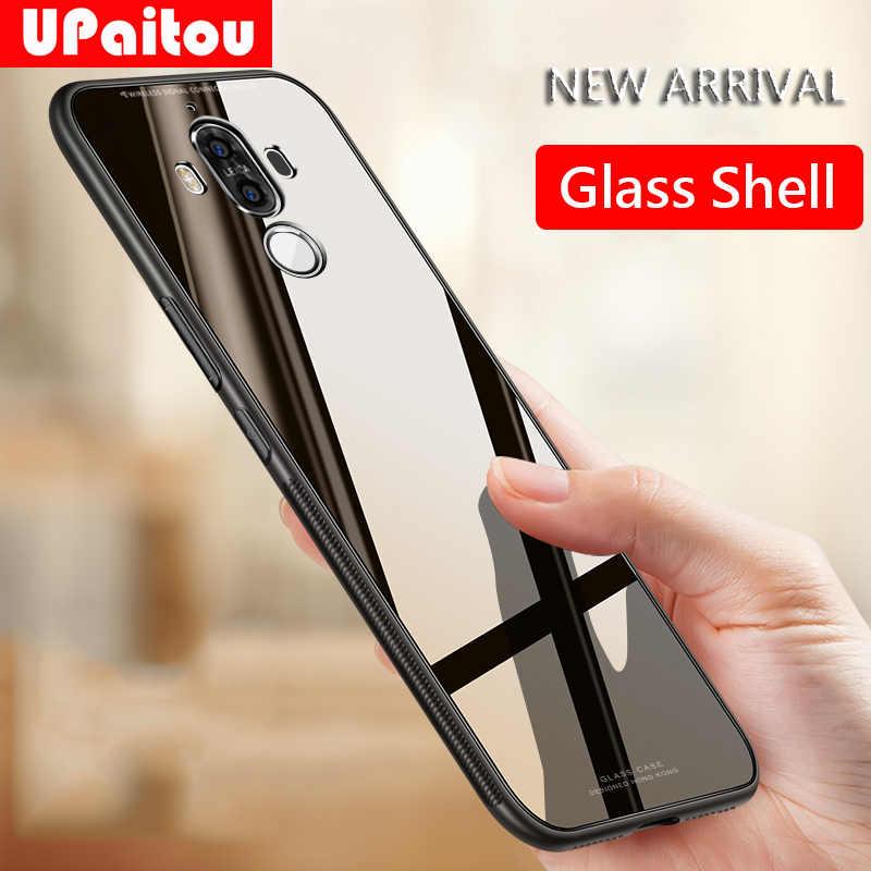 UPaitou чехол из закаленного стекла для huawei mate 20X Honor 20 10 Pro Lite мягкий полиуретановый край анти-осенний стеклянный чехол для Honor 20Pro чехол