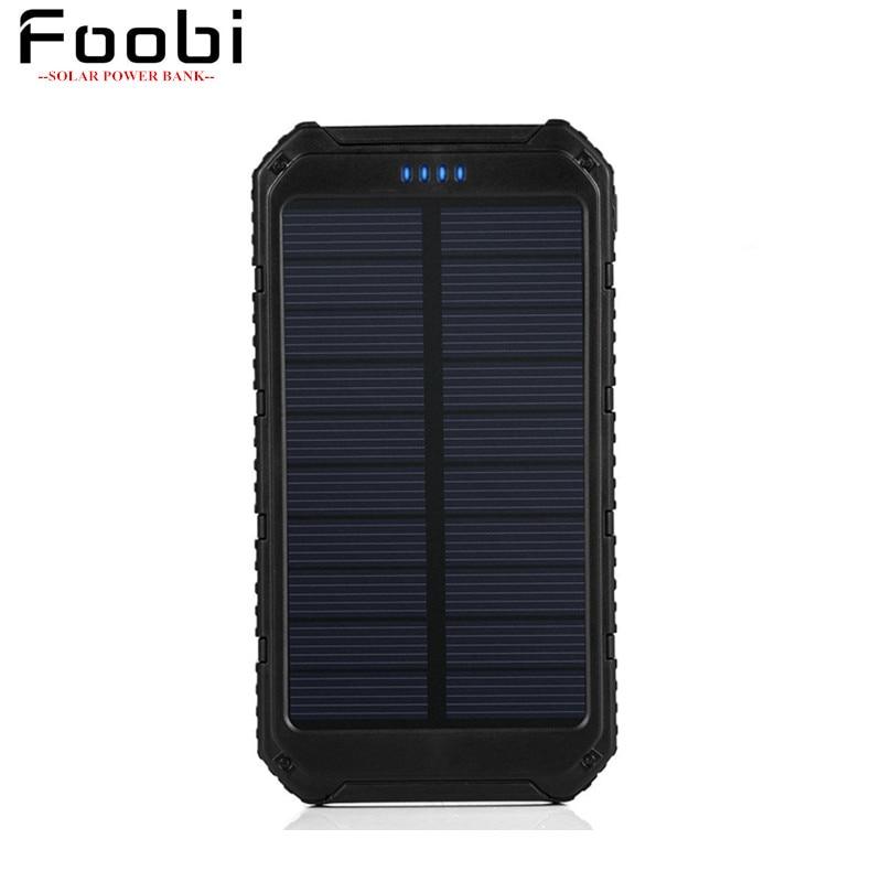 Solar Charger Portable Solar Power Bank 10000mAh Dual USB font b Battery b font Charger External