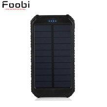 Cargador Solar Portátil Solar Power Bank 10000 mAh Dual USB Cargador de Batería de Reserva Externa Power Pack para el Teléfono Móvil de la Cámara del iPad