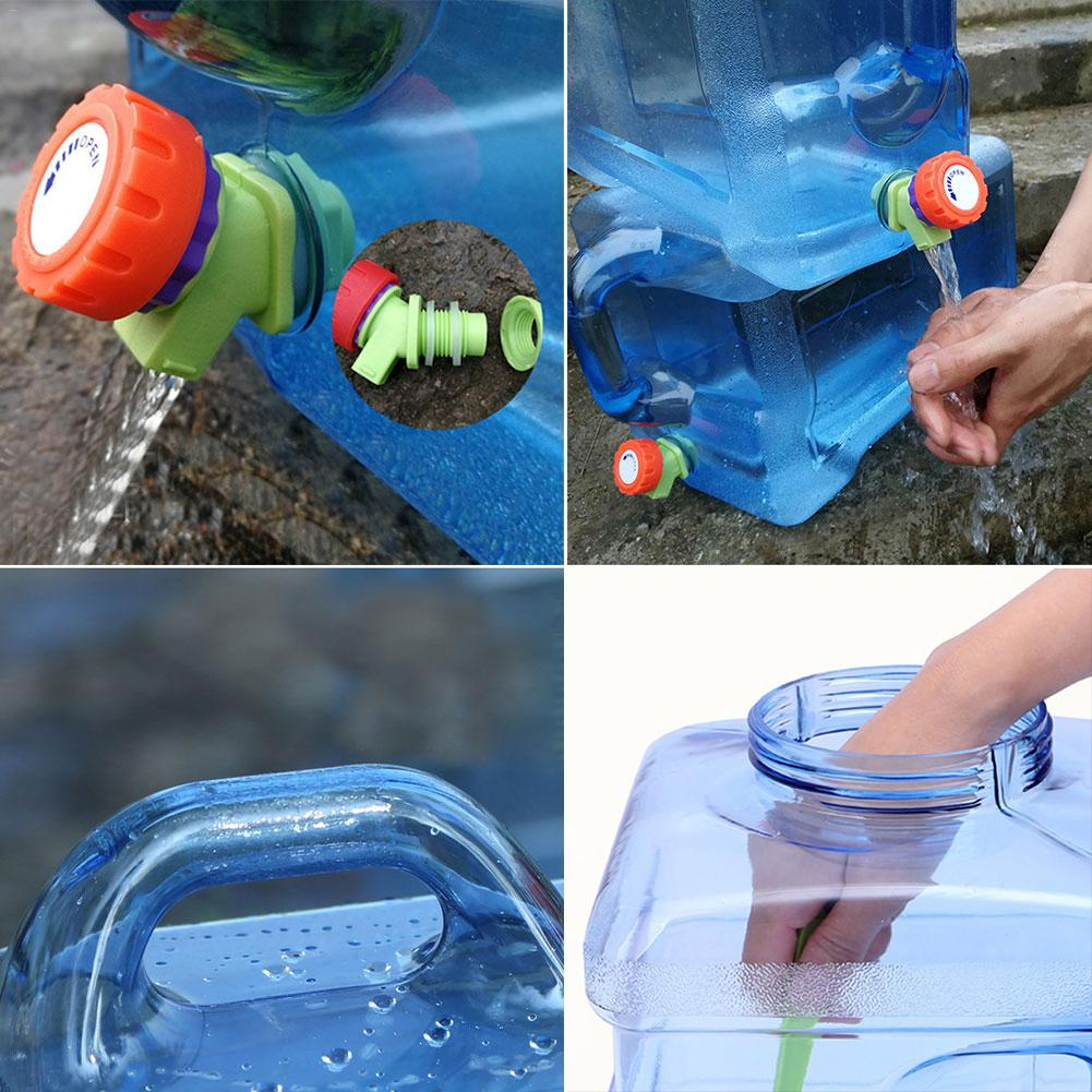 Image 2 - 5l balde de carro pc bpa livre garrafa de água plástica reusável  galão substituição garrafa de água snap no tampão anti respingo jarro  recipienteBalde p/ carro