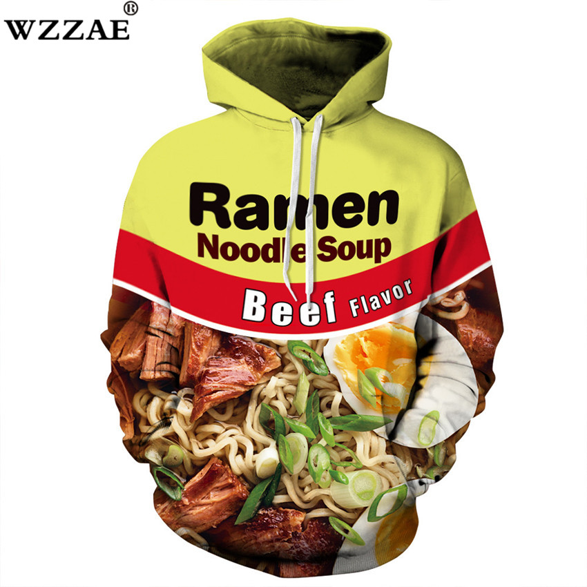2018 New Design Autumn Winter Fashion Men/womens Hoodies With Cap Pullovers Print Delicious Food 3d Sweatshirts Lovely Hoody