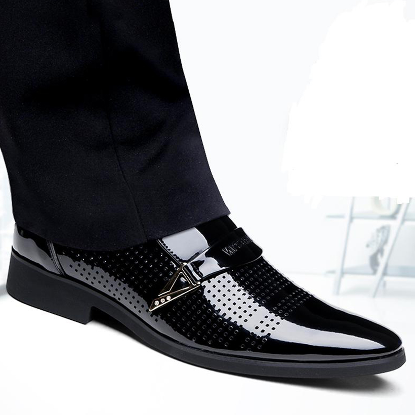Mens Luxury Genuine Leather Shoes Oxfords Flats high quality Male 2017 Wedding social Business Formal Pointed Dress Casual shoes top quality crocodile grain black oxfords mens dress shoes genuine leather business shoes mens formal wedding shoes
