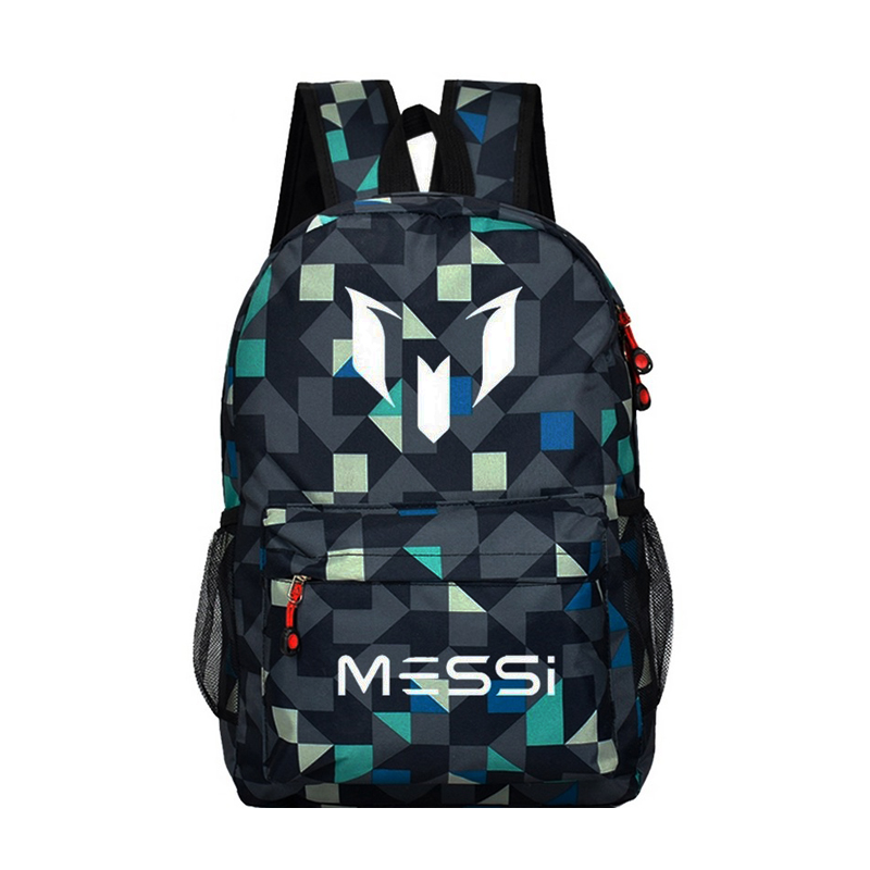 Teenagers school bags for boys Messi Backpack men back pack Male bag Kids Gift Bagpack double Shoulder bag black rucksack