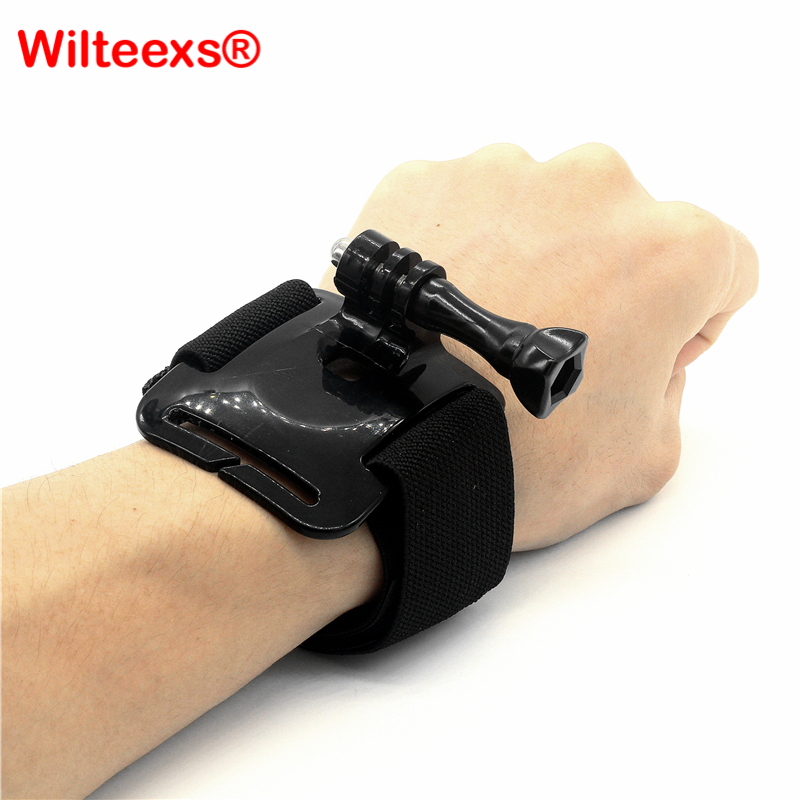 WILTEEXS headband chest belt wrist strap for hero 5 4 3 xiaomi 4k SJ4000 sports cameras accessories Action cam