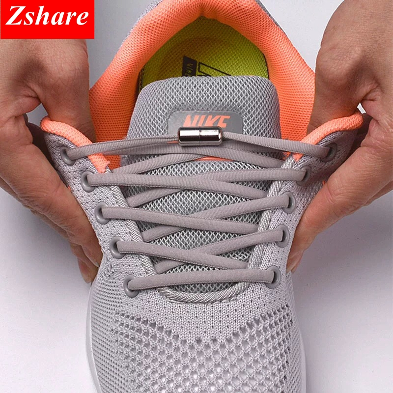 Shoelaces Round Sneakers No-Tie Elastic 19-Color Kids Quick 1pair for And Adult