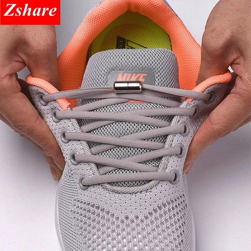 1 Paar Geen Tie Schoenveters Ronde Elastische Schoenveters Voor Kinderen En Volwassen Sneakers Schoenveter Quick Lui Veters 21 Kleur shoestrings|Schoenveters|   - AliExpress