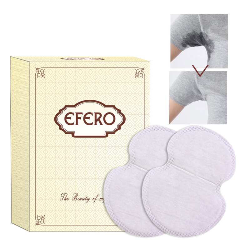 Efero Armpits Sweat Pad For Sweating Summer Disposable Absorbing Underarm Deodorants Sticker Absorbing Pad For Summer Dress 20PC
