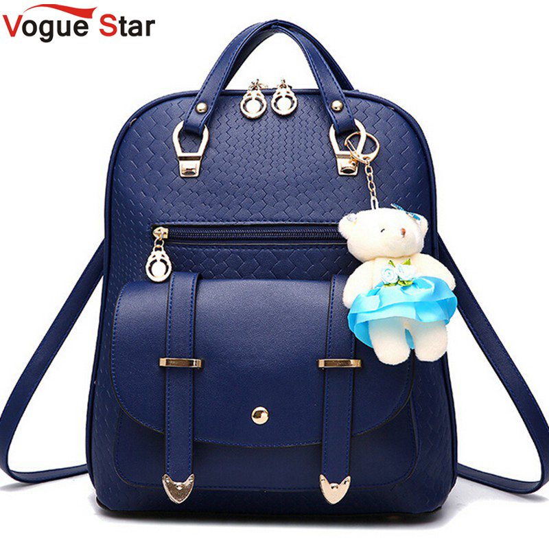 Vogue Star 2017 New Casual Girls Backpack PU Leather ...
