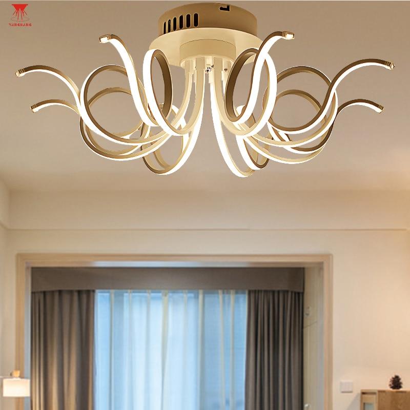 Acrylic Aluminum Modern Led Ceiling Lights For living Room Bedroom New White Modern Warm White Ceiling Lamp Fixtures цена