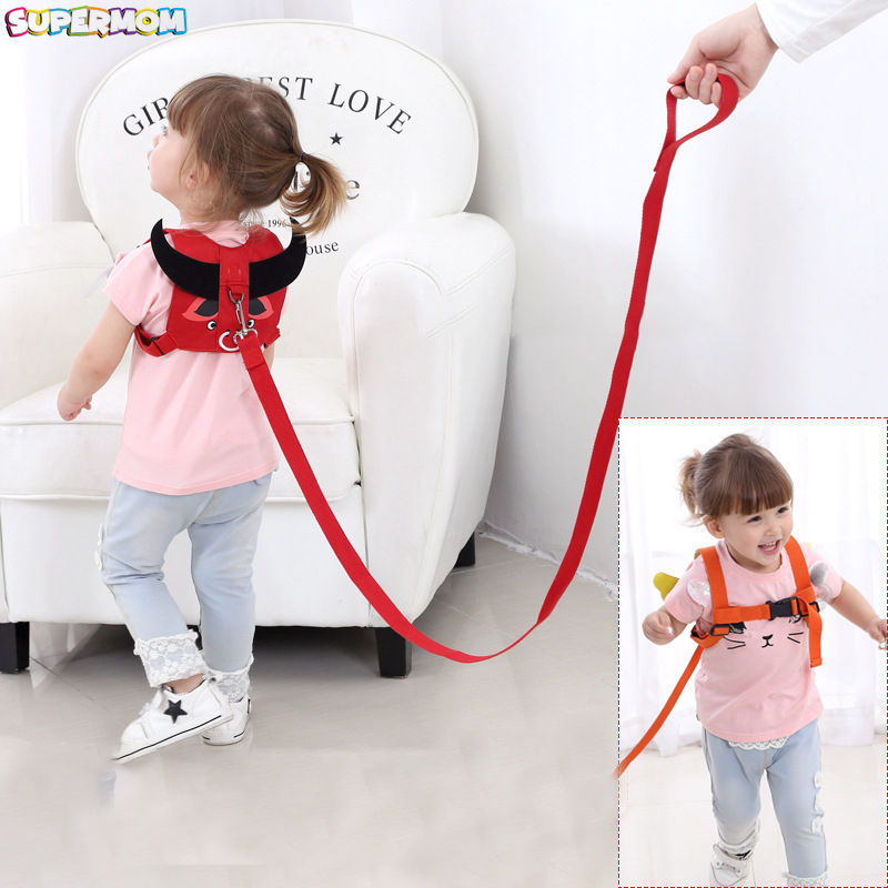Baby Safety Harness Anti Lost Walk Belt Children Leashes Kid Walking Handle Child Outdoor Play Wristband Baby Walker Safety Care противоскользящие полоски safety walk цвет серый 6 шт