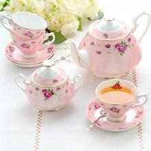 Цветной эмалированный кофейник, сахарные банки, чайник для молока, креативный костяной фарфор, посуда для напитков, керамический набор