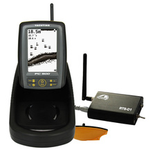 4.5″ FSTN Bait Boat Wireless Fish Finder 4 Level Grayscale 300m RC distance 30m Depth