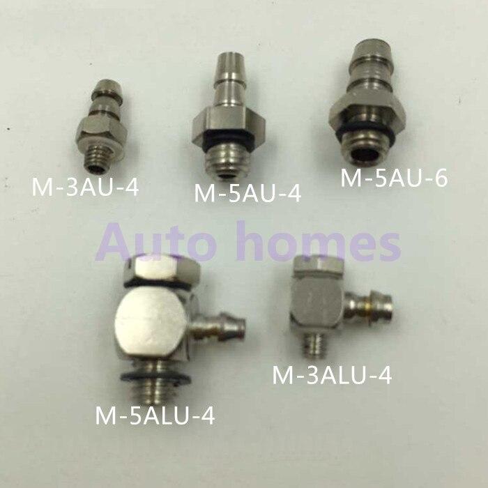 10 Pz/lotto M-3alu-4/m-5au-4 M3/m4/m5 Gomito Pneumatico Tubo Dell'aria Raccordo Rapido Montaggio Connettore Mini
