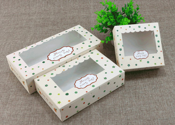 Paper Cake Box Packaging Paper Boxes With PVC Clear Window Cake Box Muffin Package Gift Box 100pcs/lot Free shipping