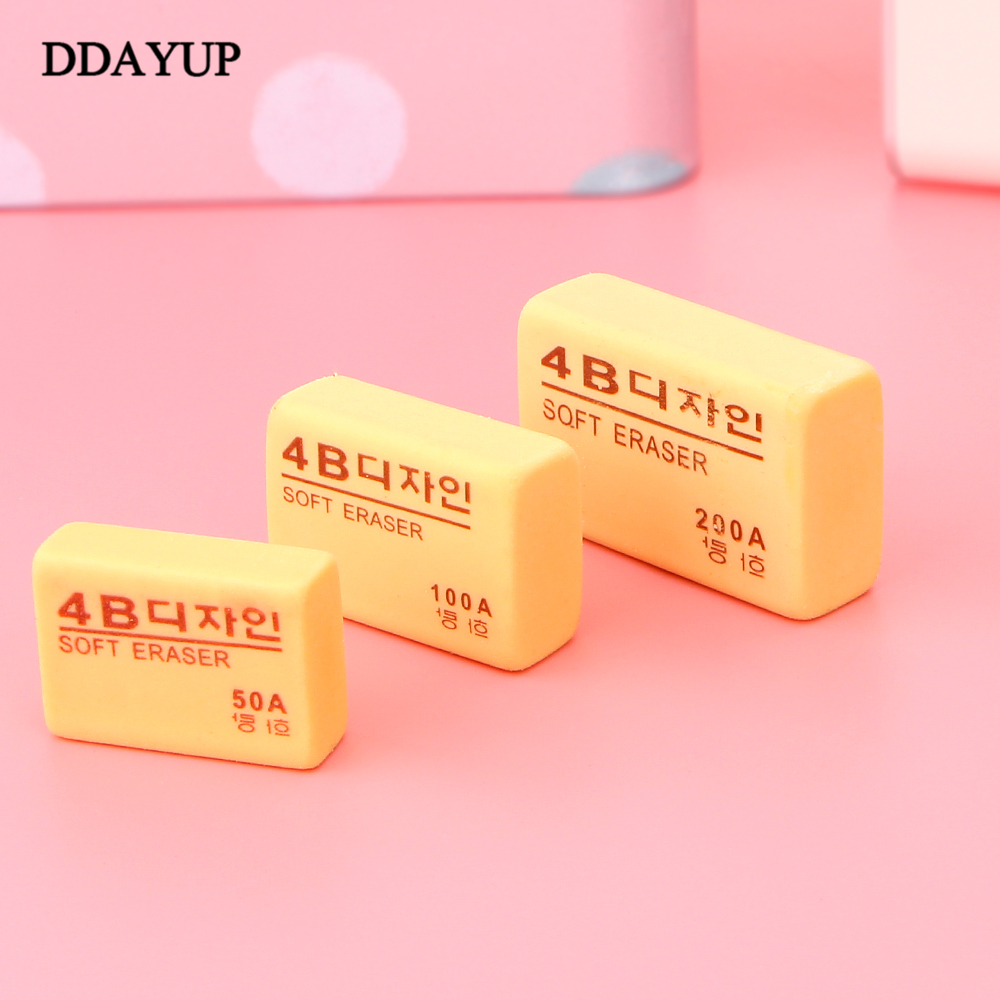 5pcs / Lot High Quality 4B Eraser For Drawing  Cute Pencil Rubber Erasers Children's School Supplies Stationery