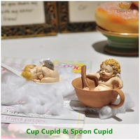 Codziennie Kolekcja Europejskiej Kreatywny Kryty Pulpit Dekoracji Mały piękny spania Cupid anioł rzeźba