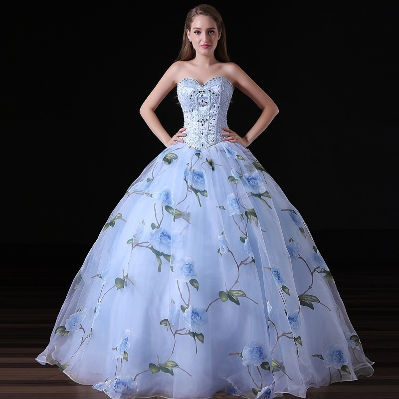 US $248.52 |100% Real Images Beautiful Quinceanera Dress Sweetheart Long  Beaded Crystals Formal Party Gown Plus Size-in Quinceanera Dresses from ...
