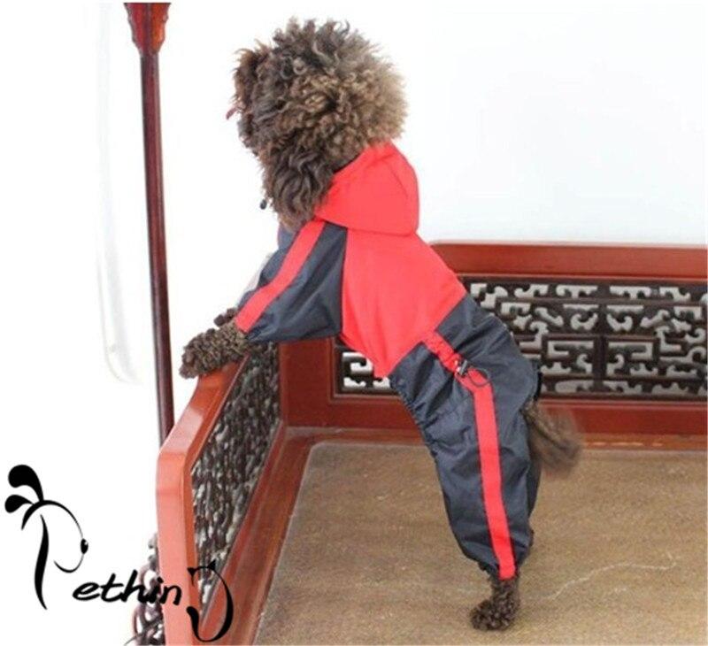 Verde Rosso cucciolo impermeabile grande cane impermeabile XS-5XL vestiti del cane impermeabile di alta qualità formato corretto adattarsi dimensioni piccole e cani di grossa taglia