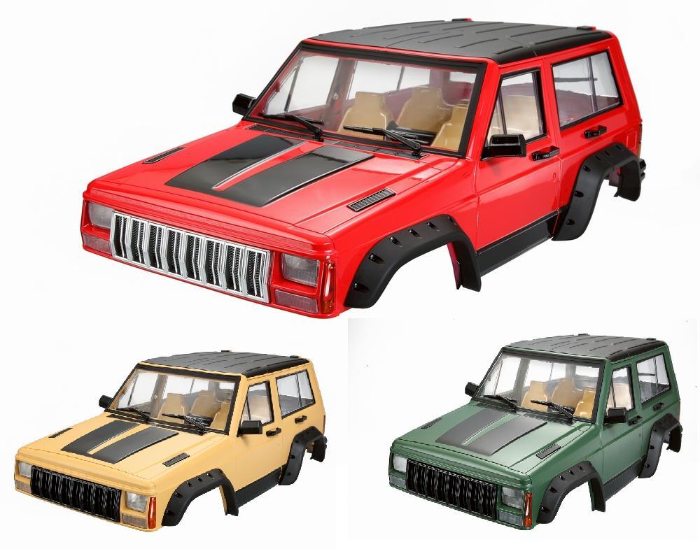 Ewellsell coque de carrosserie en plastique dur 313mm empattement pour 1/10 RC roche chenille axiale SCX10 & SCX10 II 90046 90047 taille 500*200mm