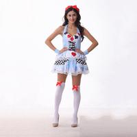 Plus Size Alice In Wonderland Maid Costume Adults CARDS Wizard Maid Outfit Poker Queen Cosplay Costumes